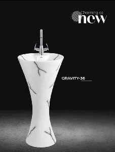 Gravity Pedestal Wash Basin