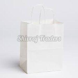 White Kraft Laminated Paper Bag