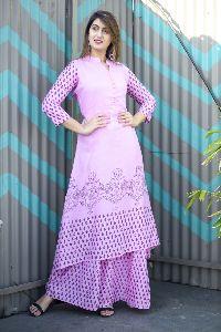 Rayon Pink Kurti