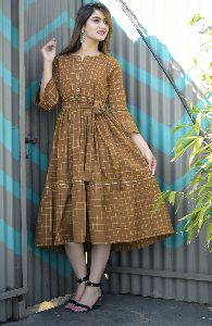 South Cotton Ochre Kurti