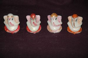 Marble Car Dashboard Ganesha