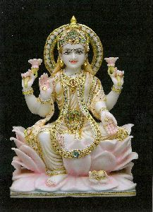Marble Dhanlaxmi Statue