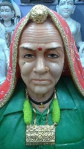 Marble Old Woman Statue