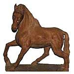 Marble Red Horse  Statue