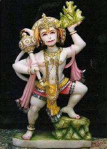 Printed Marble Hanuman Murti