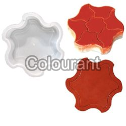 Chakra Shaped Silicone Plastic Interlocking Paver Moulds