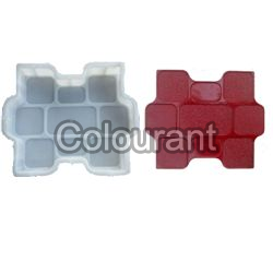 Gem Stone Shaped Silicone Plastic Interlocking Paver Moulds