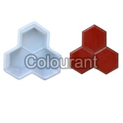 Trihex Shaped Silicone Plastic Interlocking Paver Moulds
