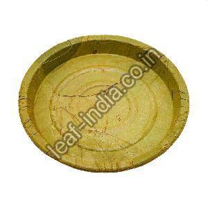 10 Inch Leaf Round Plate