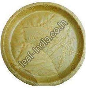12 Inch Leaf Round Plate