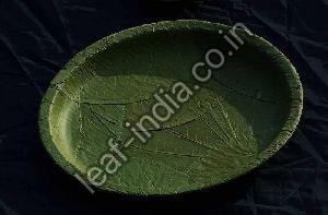 8 Inch Leaf Round Plate