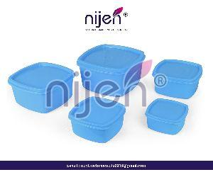 Galaxy Non-Print Square Container 5pcs. Set (2000ML - 1350ML - 750ML - 500ML - 250ML)