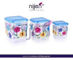 Glory Square Container 3pcs. Set (1000ML - 2000ML - 3000ML)