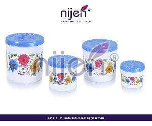 Kitchen King Container 4pcs. Set Opec (2400ML - 1600ML - 800ML - 400ML)