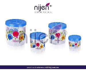 Kitchen King Container 4pcs. Set Transparant (2400ML - 1600ML - 800ML - 400ML)