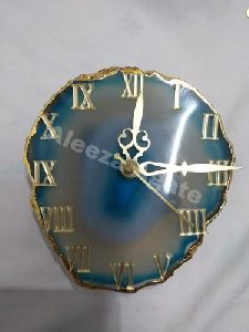 Agate Slice Clock