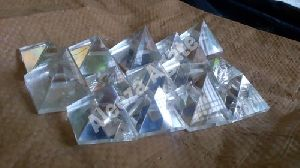 Clear Crystal Pyramid