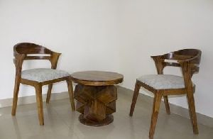 Wooden Coffee Table and Chair Set