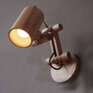 Wooden Wall Mounted Lamp