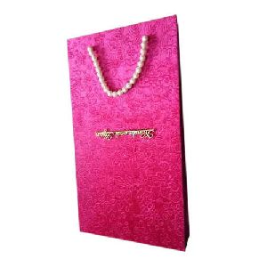 Carry Bag Style Wedding Card