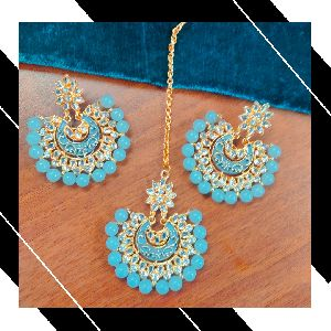 Maang Tikka and Earring Set