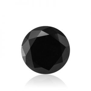 10 mm Round Brilliant Cut Black Diamond