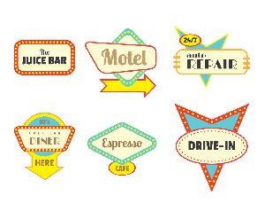 Retro Signs Printing Services