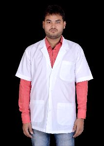 Mens Half Sleeves Doctor Lab Coat Apron