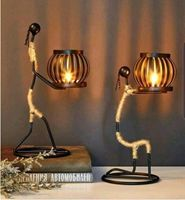 Artistic Iron Candle Holder
