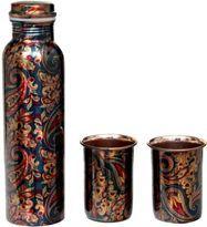 Printed Copper Bottle Set