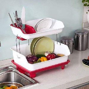 Plastic 2 Layer Kitchen Organizer