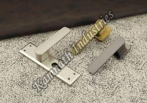 White Metal Mortise Handle