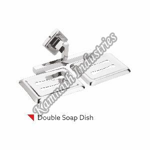 Leezen Metal Rectangle Double Soap Dish