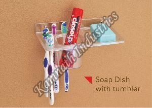 Plastic Soap Dish with Tumbler Holder