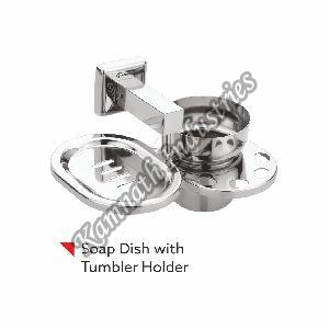 Leezen Metal Soap Dish with Tumbler Holder