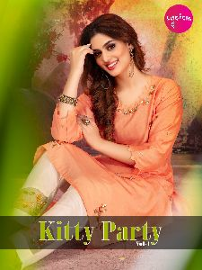 CHANDERI FANCY DESIGNER KURTIS