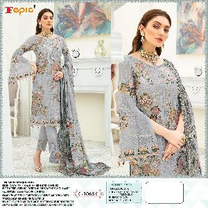 FEPIC ROSEMEEN LAUNCHED DYNAMIC GEORGETTE EMBROIDERED WITH HANDWORK PAKISTANI SUITS WHOLESALE DEALER
