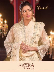 GEORGETTE WITH HEAVY EMBROIDERY WORK PAKISTANI SUITS