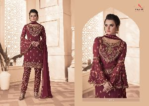 GEORGETTE WITH HEAVY EMBROIDERY WORK SALWAR SUITS