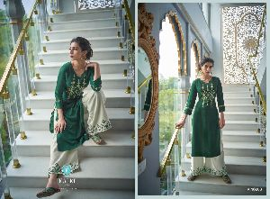 RAYON WITH BAWALIYA HANDWORK READYMADE SUITS
