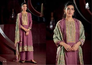 SAHIBA LAUNCHED THE WEAVE COTTON SATIN DIGITAL PRINT WITH HANDWORK SALWAR SUITS WHOLESALE