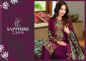 SAPPHIERE LAWN LAUNCHED PURE LAWN COTTON FANCY DESIGNER SALWAR SUITS WHOLESALE DEALER SURAT