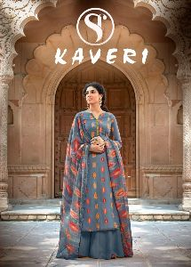 SWEETY FASHION LAUNCHED KAVERI RAYON COPPER PRINT SALWAR KAMEEZ WHOLESALE DEALER SURAT