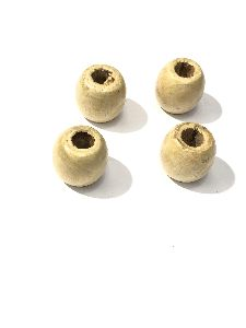 16X17 Big Hole Wooden Goli Beads