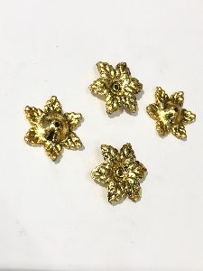 Copper Coated Flower Beads