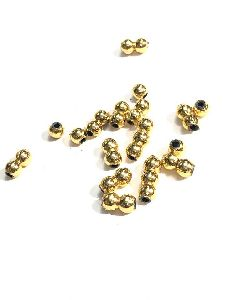 Golden Moti Plain Metalized Beads