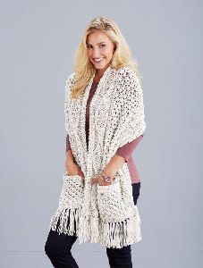 crochet stole with pocket