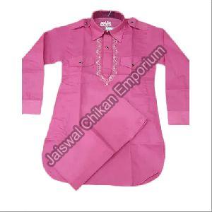 Boys Poly Cotton Pathani Suit Set