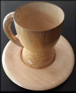 Bamboo Tea Cup & Saucer Set