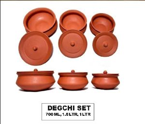 Terracotta Degchi Set